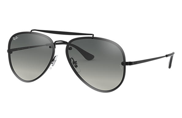 a681bcc4e Ray-Ban Blaze Aviator RB3584N Black - Steel - Grey Lenses ...
