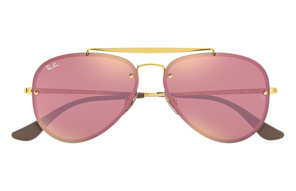 Ray-Ban Blaze Aviator RB3584N Gold - Steel - Pink Lenses ... bda8bd6edfd5