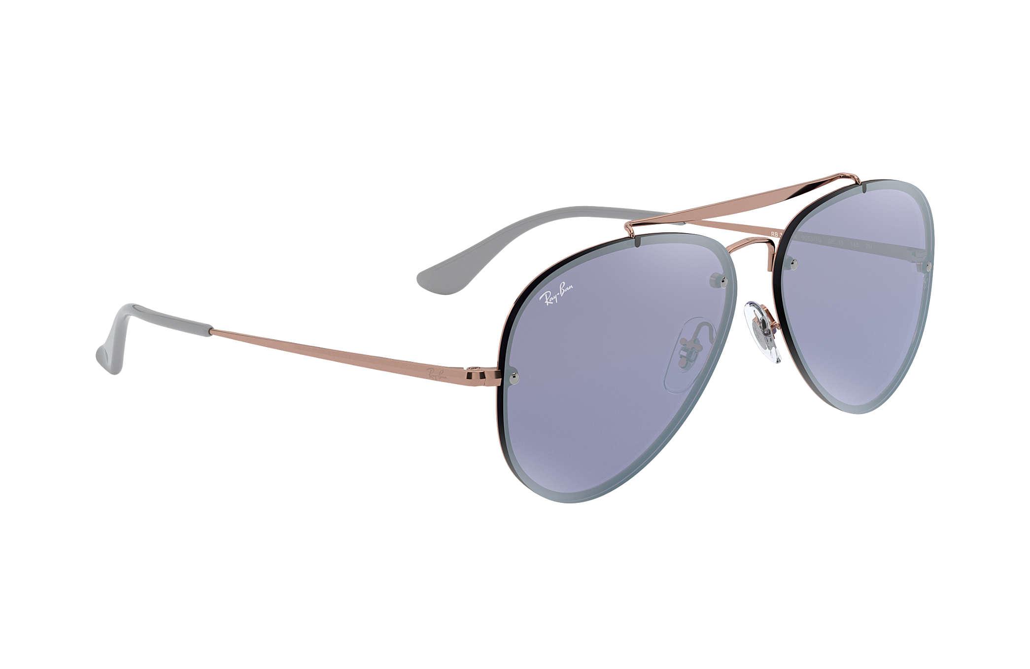 32010b850c Ray-Ban Blaze Aviator RB3584N Bronze-Copper - Steel - Violet Lenses ...