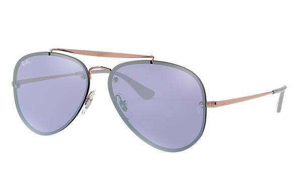 5c1f3f2e6195 Ray-Ban Blaze Aviator RB3584N Bronze-Copper - Steel - Violet Lenses ...