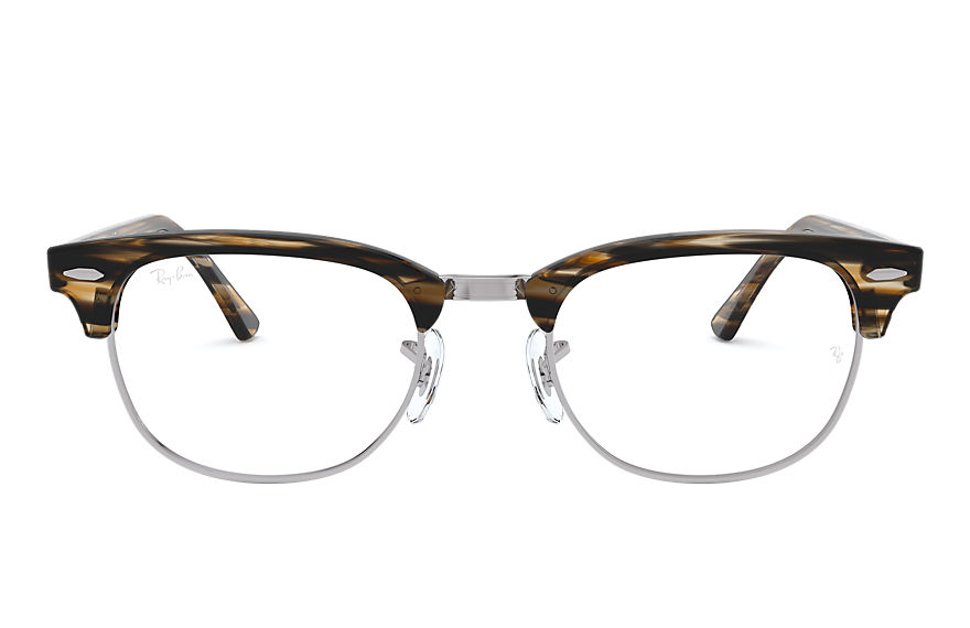 Ray-Ban  eyeglasses RX5154 MALE 001 clubmaster optics 브라운 8053672832754