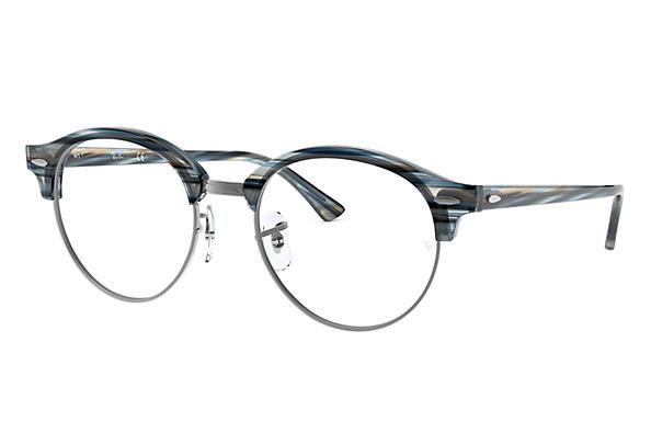 be1ff88be2 Ray-Ban prescription glasses Clubround Optics RB4246V Blue - Acetate ...