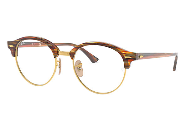 Ray-Ban 0RX4246V-CLUBROUND OPTICS Brown OPTICAL