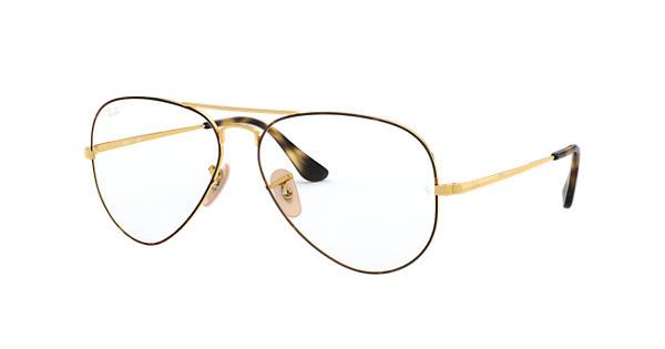 3515087b68 Gafas de vista Ray-Ban Aviator Vista RB6489 Habana - Metal - 0RX6489294558    Ray-Ban® España