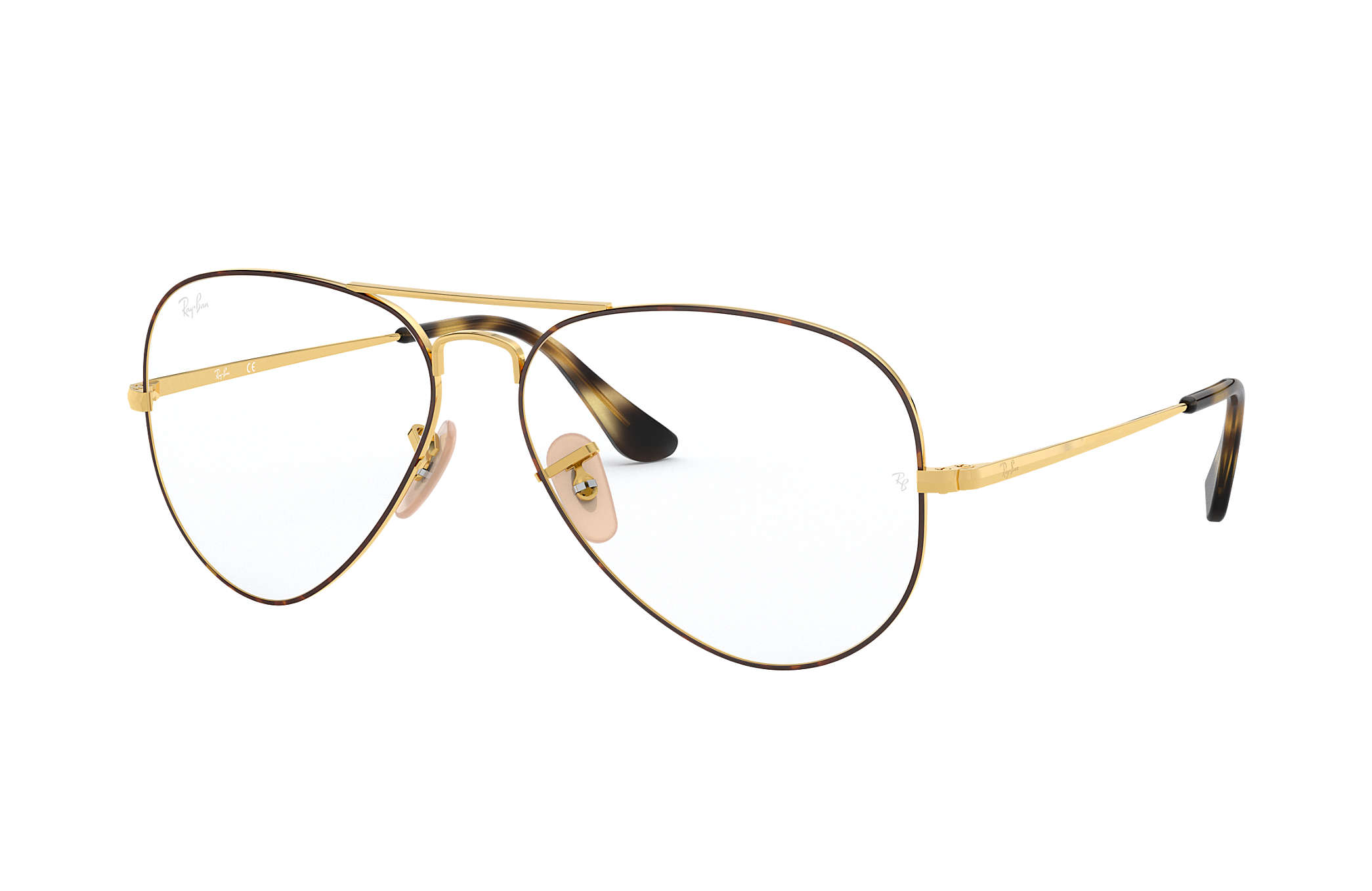 Ray-Ban prescription glasses Aviator Optics RB6489 Tortoise - Metal ...