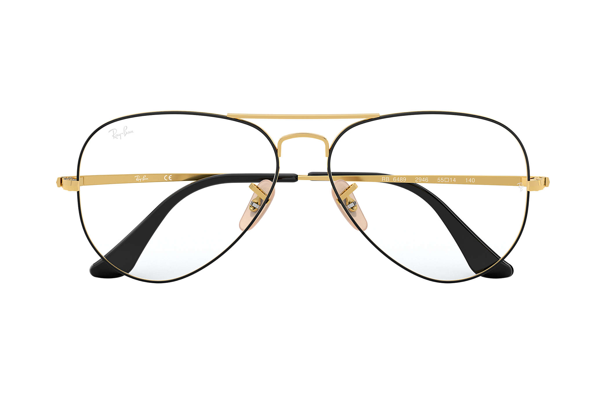 de216a955b Ray-Ban prescription glasses Aviator Optics RB6489 Black - Metal ...