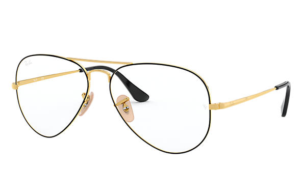 Ray-Ban 0RX6489-Aviator Vista Negro,Oro; Oro OPTICAL