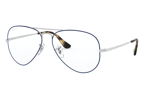 Ray-Ban 0RX6489-Aviator Optics Blue,Silver; Silver OPTICAL