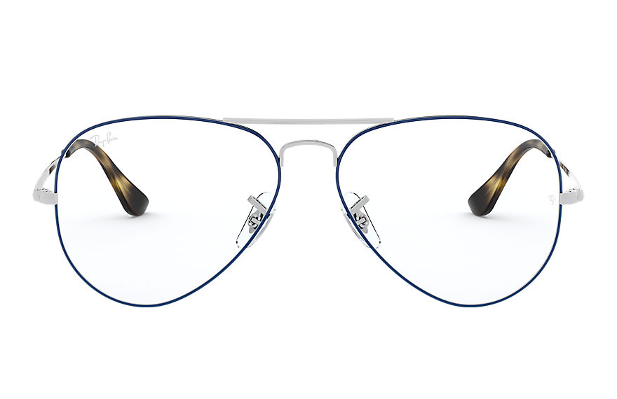 Ray-Ban  graduados RX6489 MALE 002 aviator optics azul 8053672833324