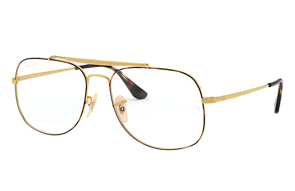 Ray-Ban 0RX6389-GENERAL OPTICS Havane,Or; Or OPTICAL