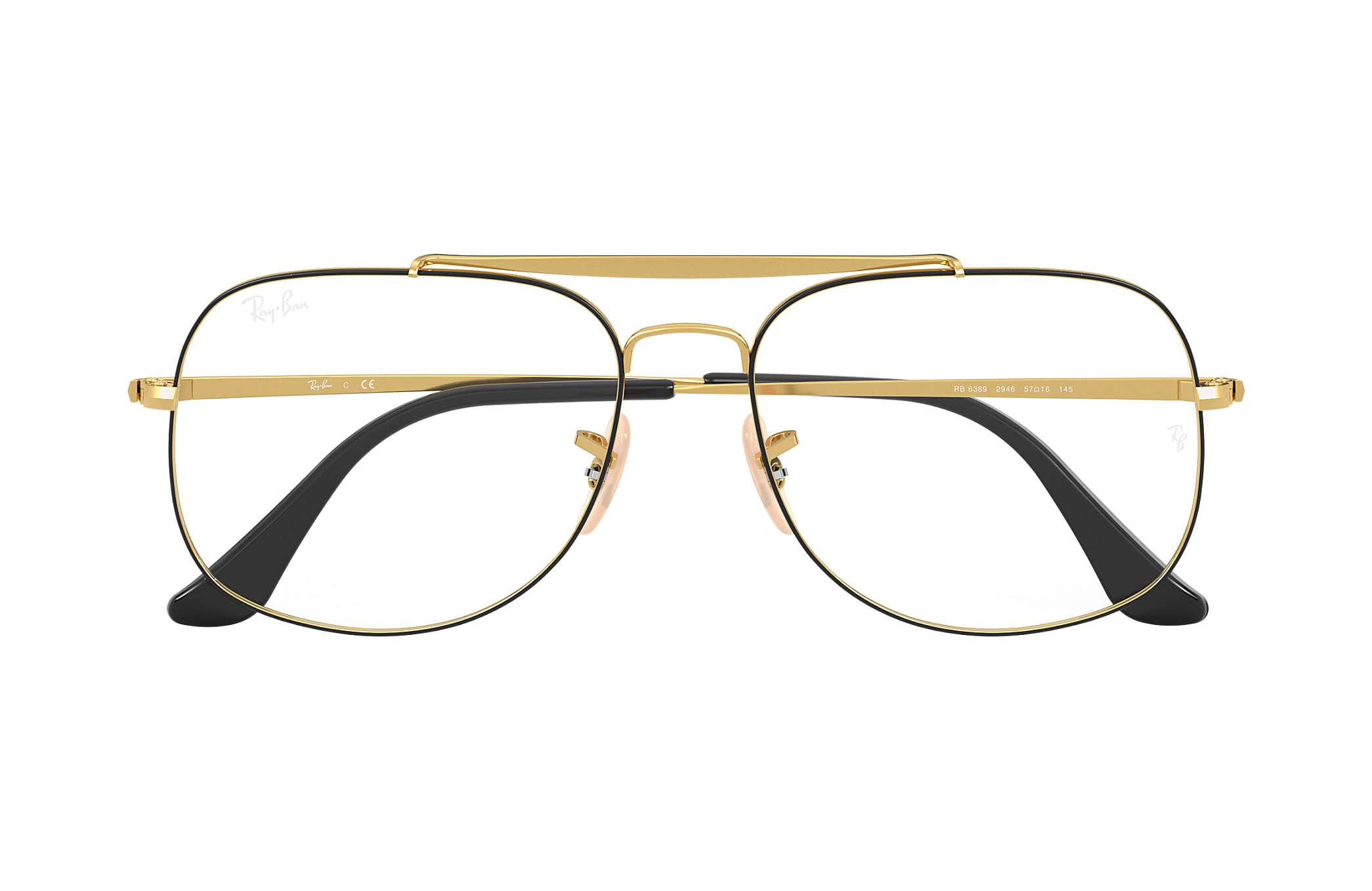 96386da105 Ray-Ban prescription glasses General Optics RB6389 Black - Metal ...