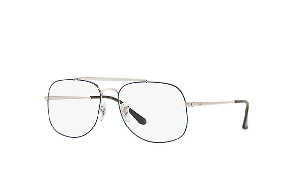 Ray-Ban 0RX6389-GENERAL OPTICS Blue,Silver; Silver OPTICAL