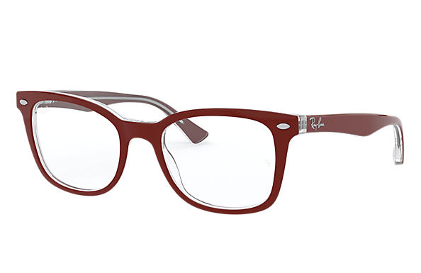 Ray-Ban 0RX5285-RB5285 Bordeaux,Transparent OPTICAL