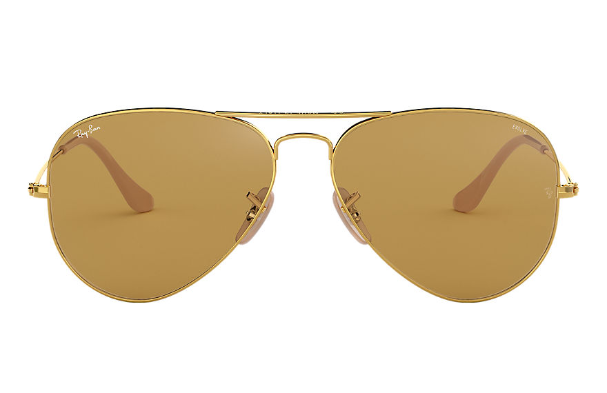 Ray-Ban  sonnenbrillen RB3025 MALE 002 aviator washed evolve gold 8053672833904