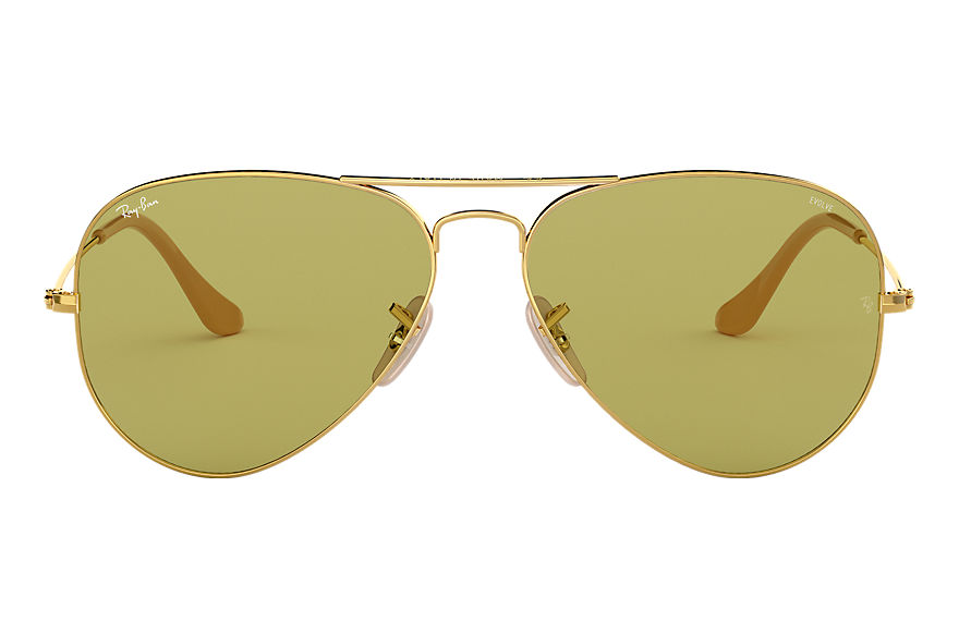 Ray-Ban  sonnenbrillen RB3025 MALE 005 aviator washed evolve gold 8053672833935