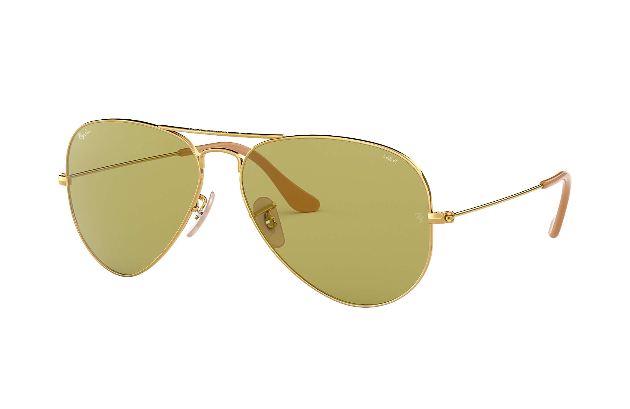 52613a360696f Ray-Ban Aviator Evolve RB3025 Gold - Metal - Green Lenses ...