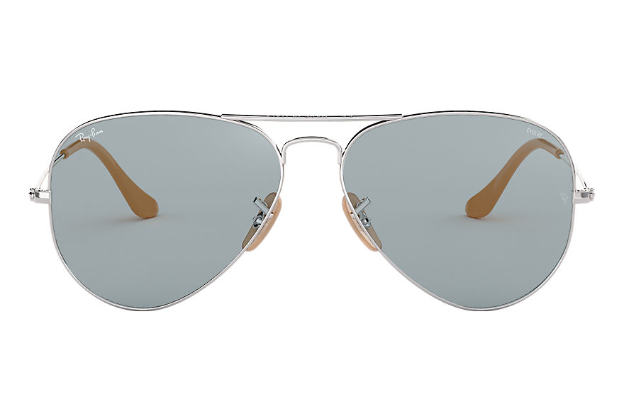 Ray-Ban  sonnenbrillen RB3025 MALE 001 aviator washed evolve silber 8053672833966