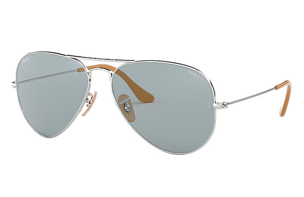 Ray-Ban 0RB3025-AVIATOR WASHED EVOLVE Argent SUN