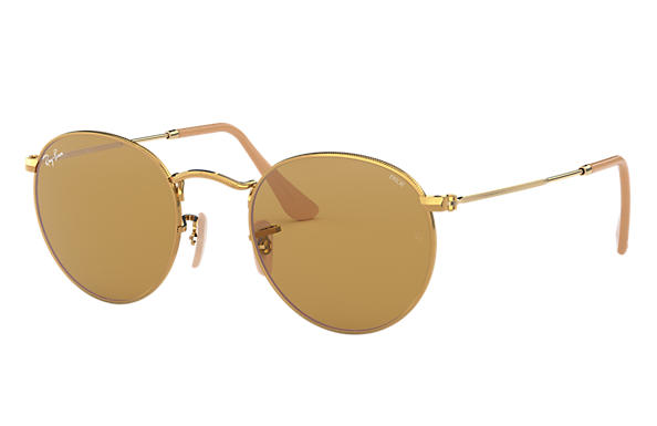 Ray-Ban		 0RB3447-ROUND EVOLVE Gold SUN