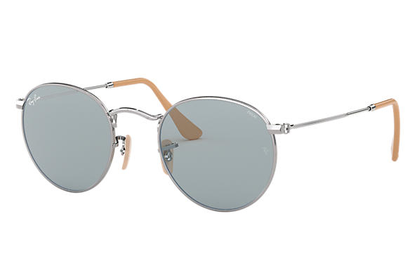 Ray-Ban 0RB3447-ROUND EVOLVE Silver SUN