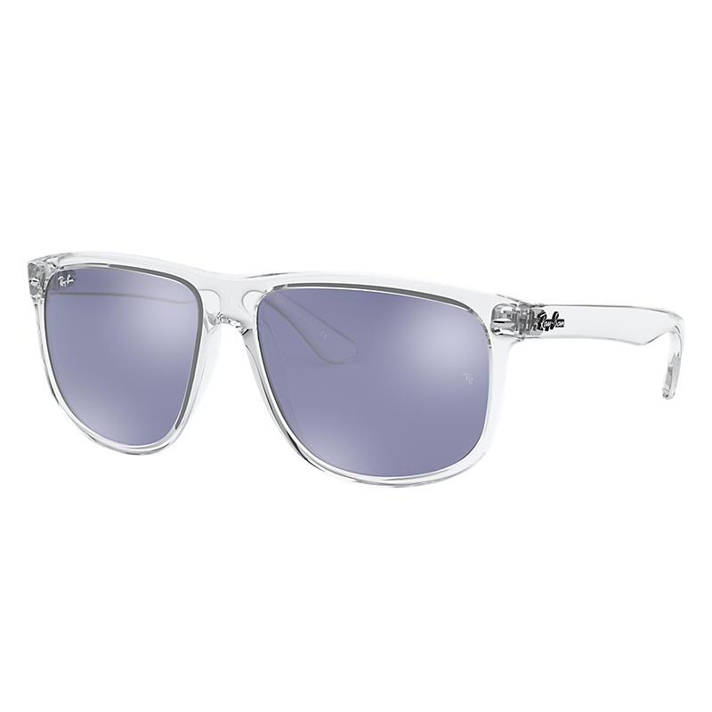 Ray-Ban Transparent Sunglasses, Violet Lenses - Rb4147