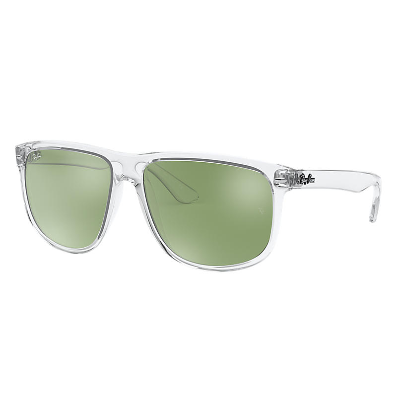 Ray-Ban Transparent Sunglasses, Green Lenses - Rb4147