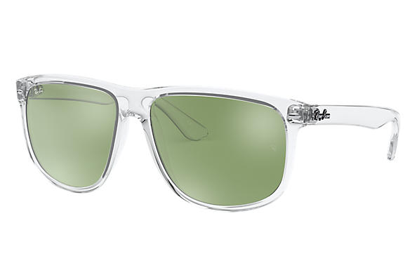 Ray-Ban Sunglasses RB4147 Transparent with Dark Green/Silver Mirror lens