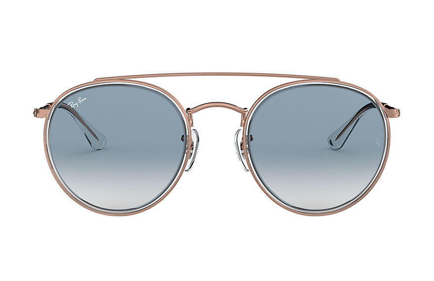 Ray-Ban  oculos de sol RB3647N MALE 002 round double bridge transparente 8053672834321