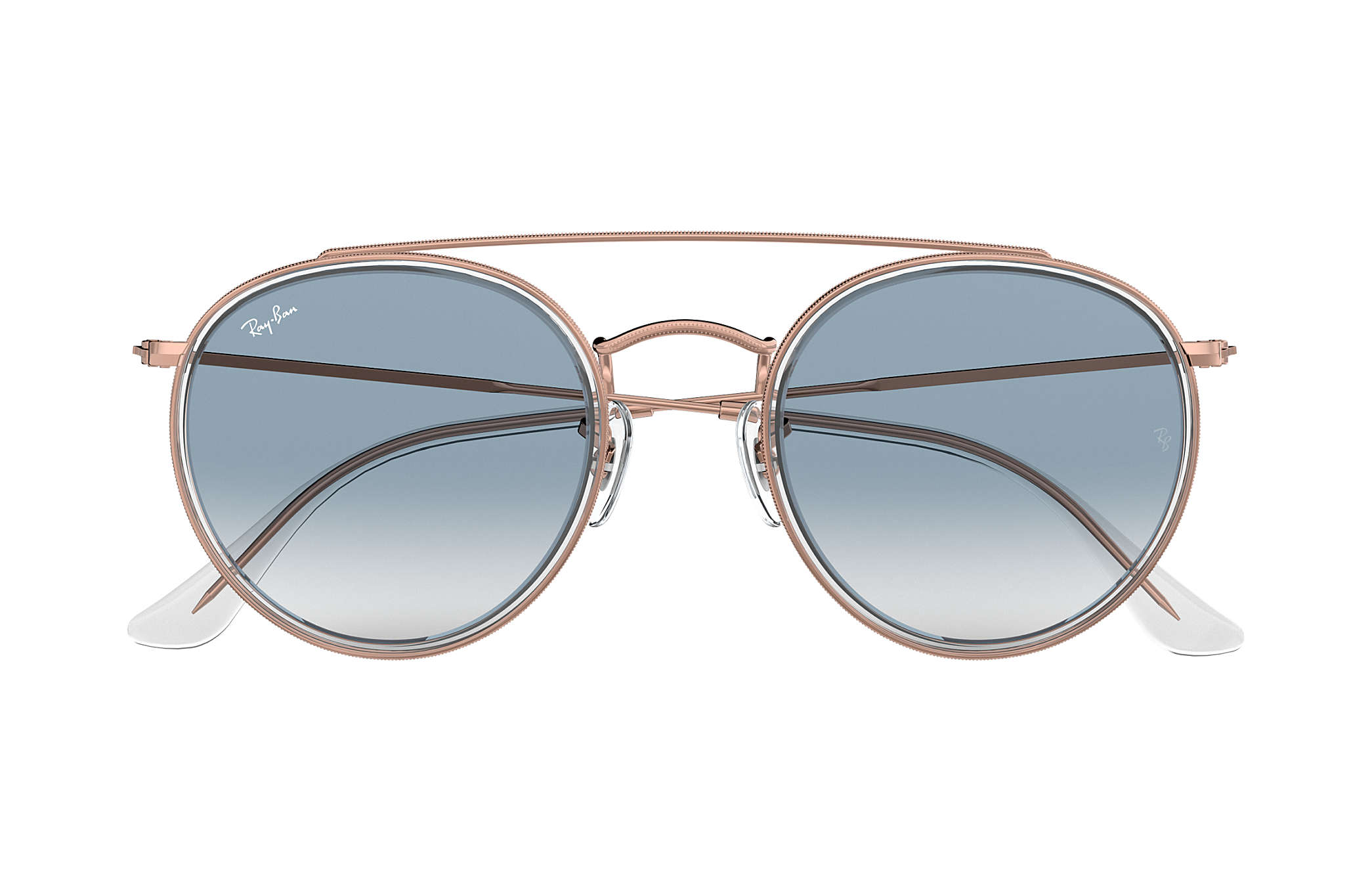 ... Ray-Ban 0RB3647N-ROUND DOUBLE BRIDGE Transparent  Bronze-Copper SUN ... 312542f85c