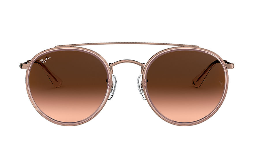 Ray-Ban  oculos de sol RB3647N MALE 003 round double bridge rosa polido 8053672834338