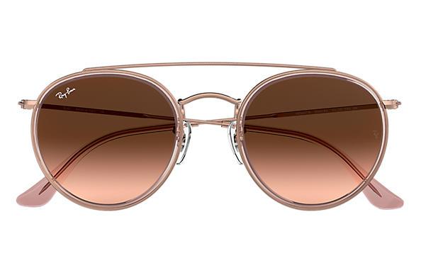 cec3ea4ca7 ... Ray-Ban 0RB3647N-ROUND DOUBLE BRIDGE Pink  Bronze-Copper SUN ...