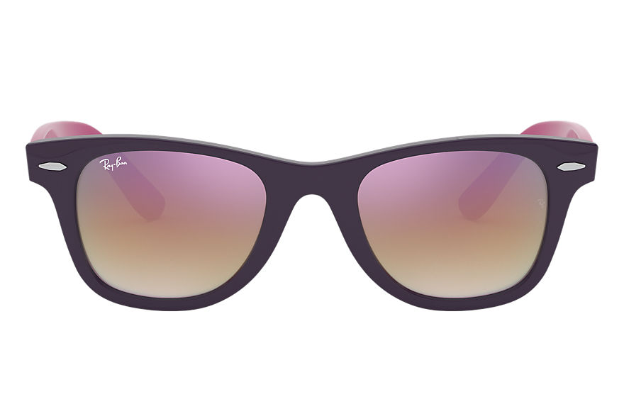 Ray-Ban WAYFARER JUNIOR Violet with Copper Gradient Mirror lens