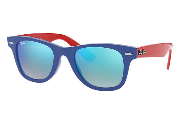 Ray-Ban 0RJ9066S-WAYFARER JUNIOR Bleu; Rouge SUN
