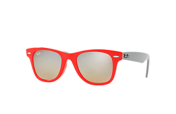 Ray-Ban 0RJ9066S-WAYFARER JUNIOR Red; Grey SUN