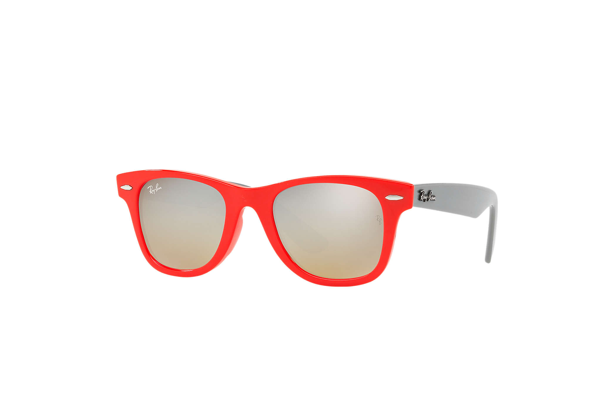 ac2517afbd9f3 Wayfarer Junior Ray-Ban RB9066S Rouge - Injected - Verres Argent ...