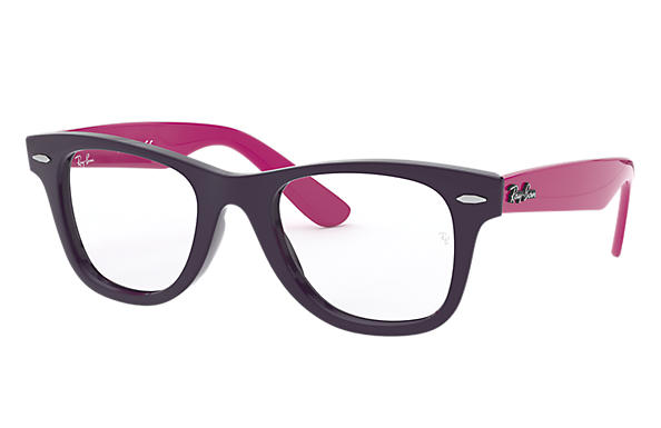 Ray-Ban 0RY9066V-WAYFARER JUNIOR OPTICS Violeta; Violeta-Rojo OPTICAL