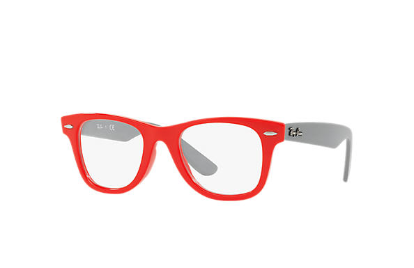 Ray-Ban 0RY9066V-WAYFARER JUNIOR OPTICS Red; Grey OPTICAL