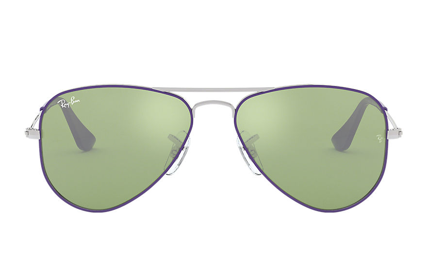 Ray-Ban  lunettes de soleil RJ9506S CHILD 004 aviator junior violet rouge 8053672834871