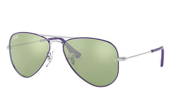 87a7aae36e9 Ray-Ban Aviator Junior RB9506S Gold - Metal - Green Lenses ...