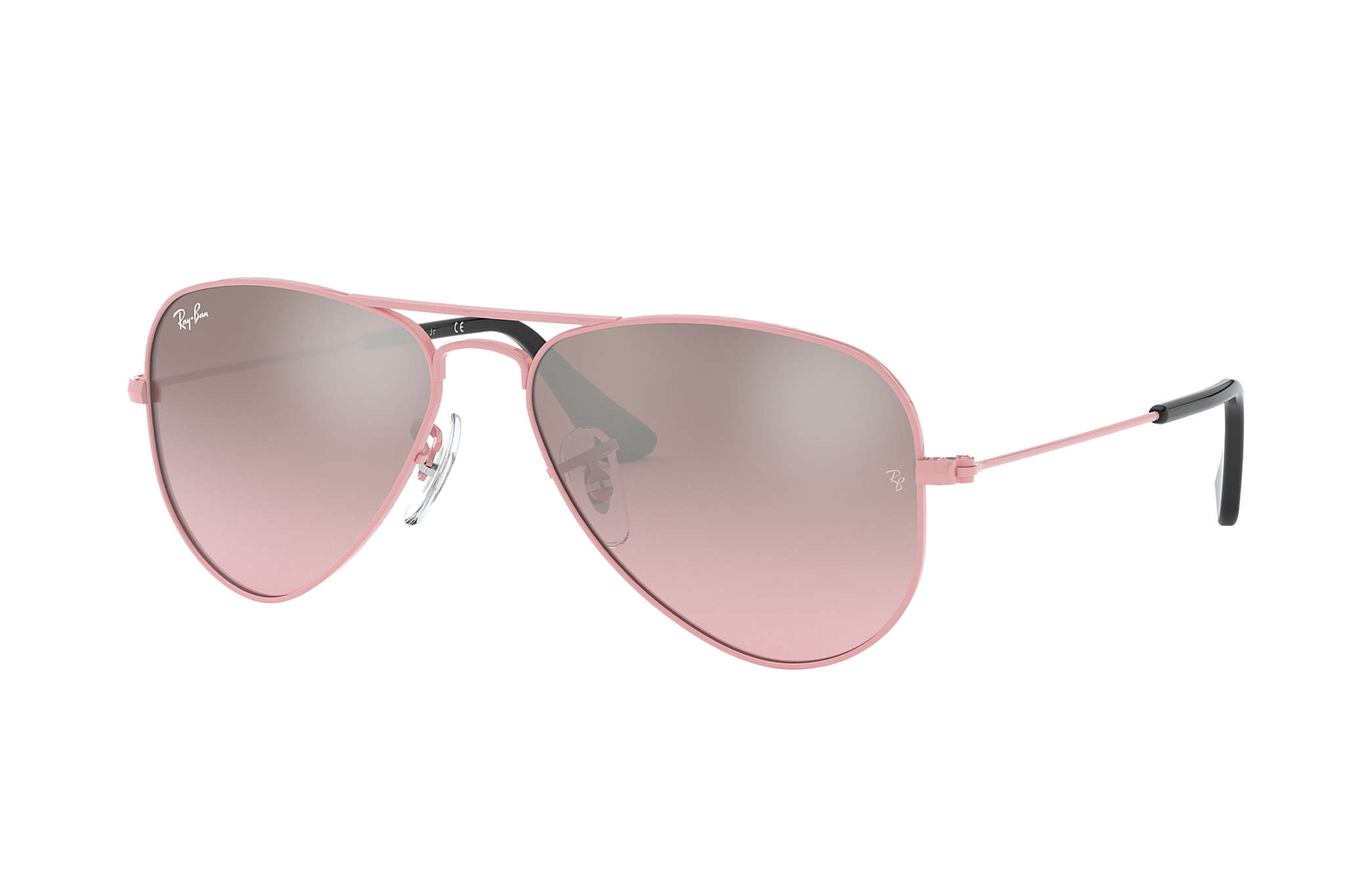 10689845f Ray-Ban Aviator Junior RB9506S Pink - Metal - Pink Lenses ...