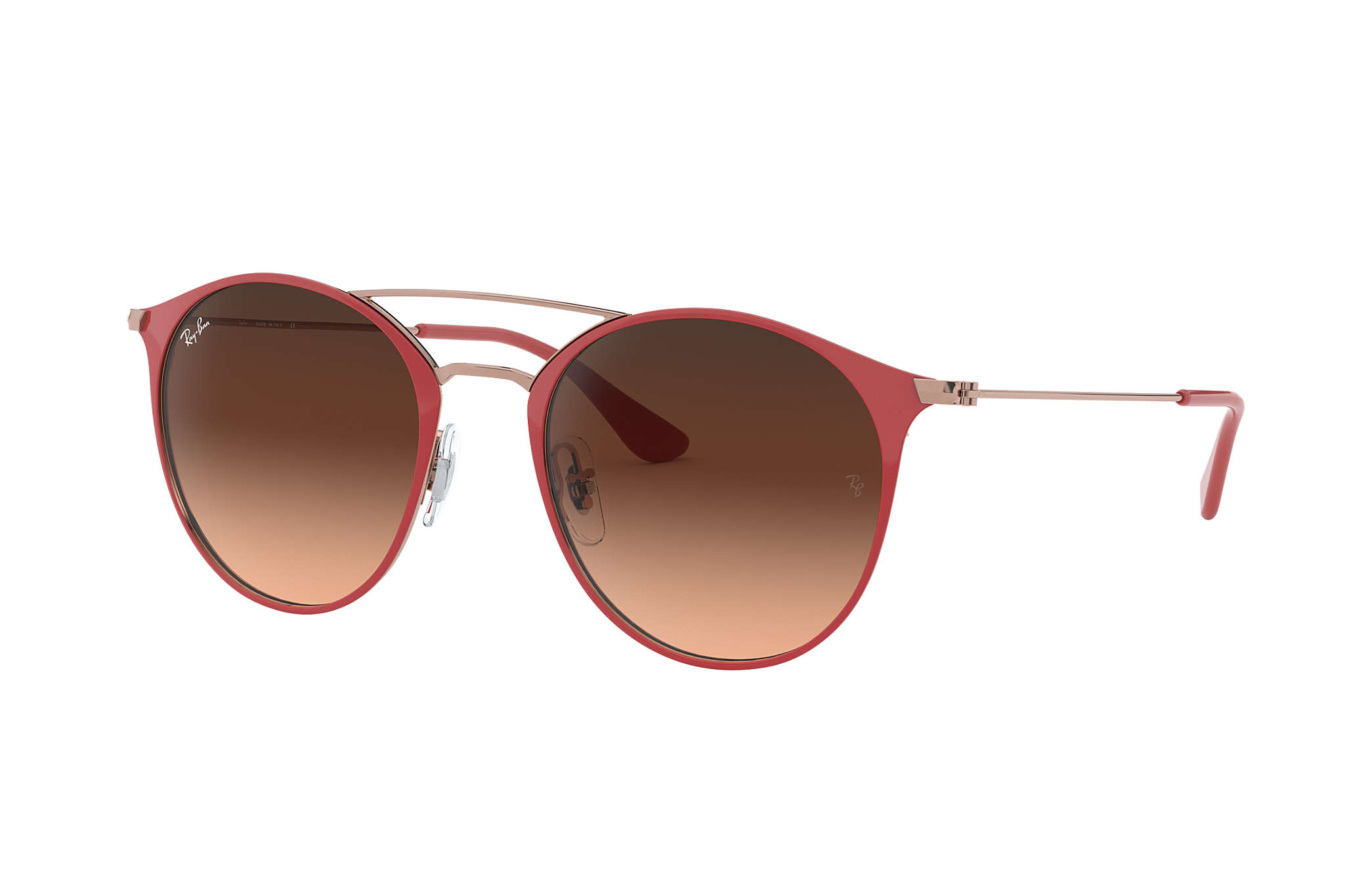Ray-Ban RB3546 Red - Steel - Pink Brown Lenses - 0RB354690727152 ... 79bddc05941