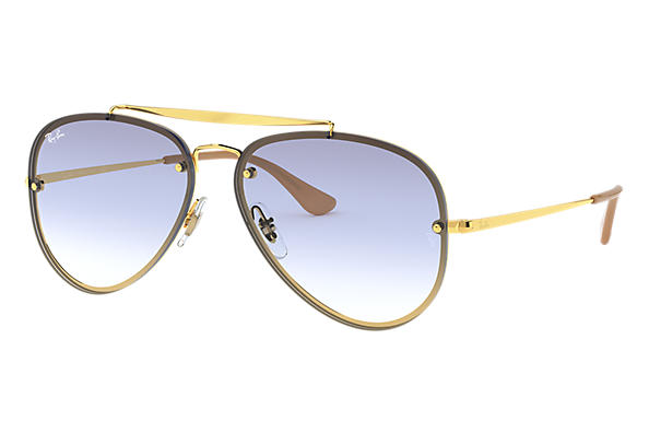 8593a2efd Ray-Ban Blaze Aviator RB3584N Gold - Steel - Light Blue Lenses ...