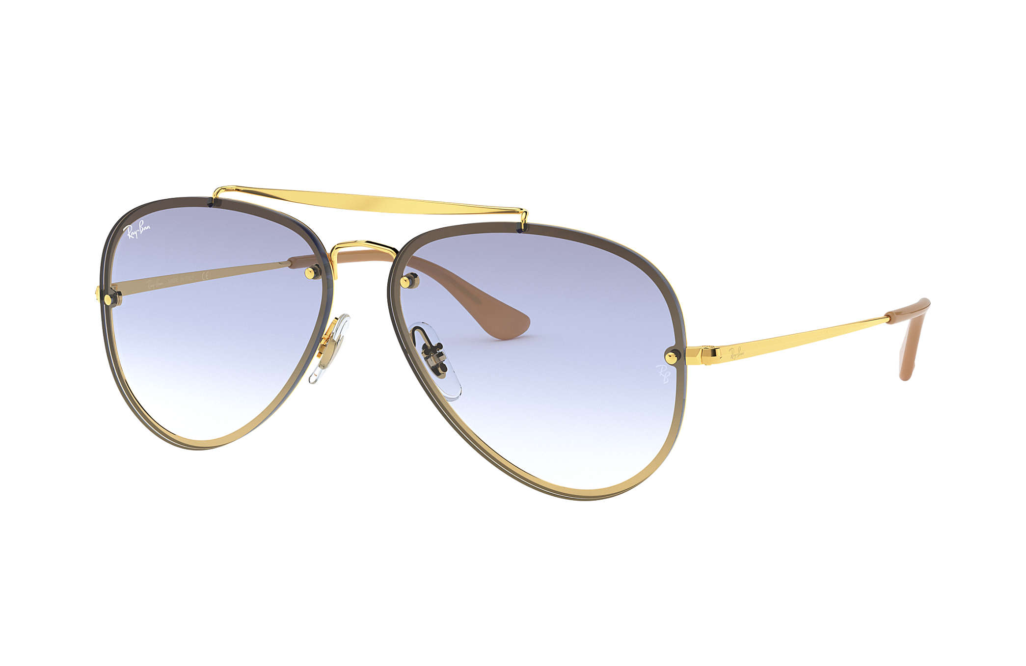 Ray-Ban Blaze Aviator RB3584N Gold - Steel - Light Blue Lenses ... e8c2a48cf2