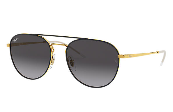Ray-Ban 0RB3589-RB3589 Schwarz,Gold; Gold SUN