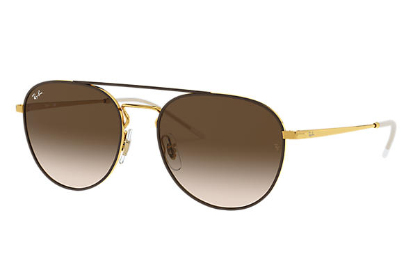 Ray-Ban 0RB3589-RB3589 Brown,Gold; Gold SUN