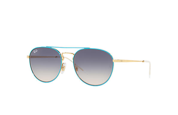 Ray-Ban 0RB3589-RB3589 Blue,Gold; Gold SUN
