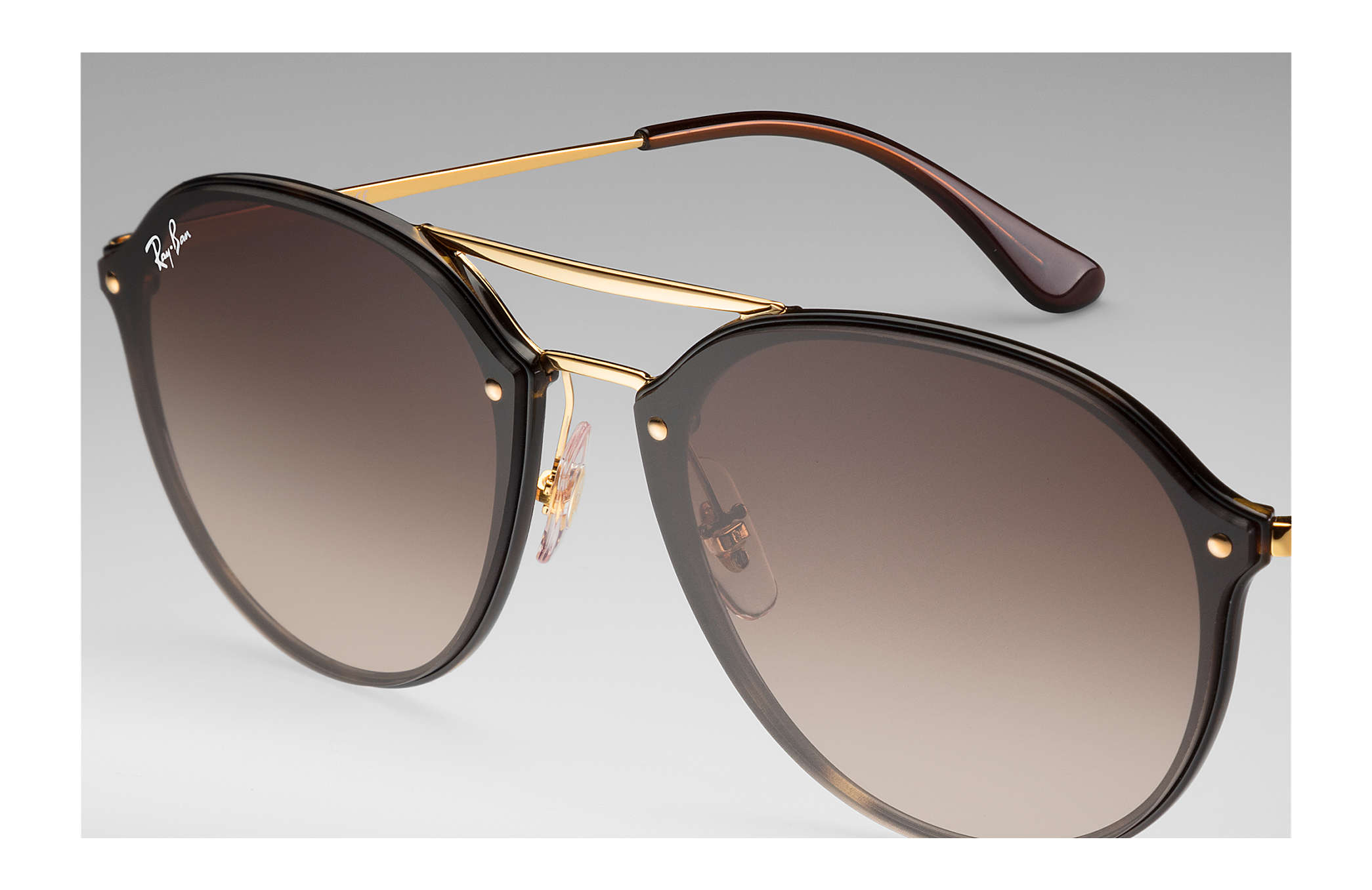 25b34c816c04d Ray-Ban Blaze Double Bridge RB4292N Tortoise - Injected - Brown ...