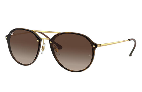 Ray-Ban Sunglasses BLAZE DOUBLE BRIDGE Tortoise with Brown Gradient lens