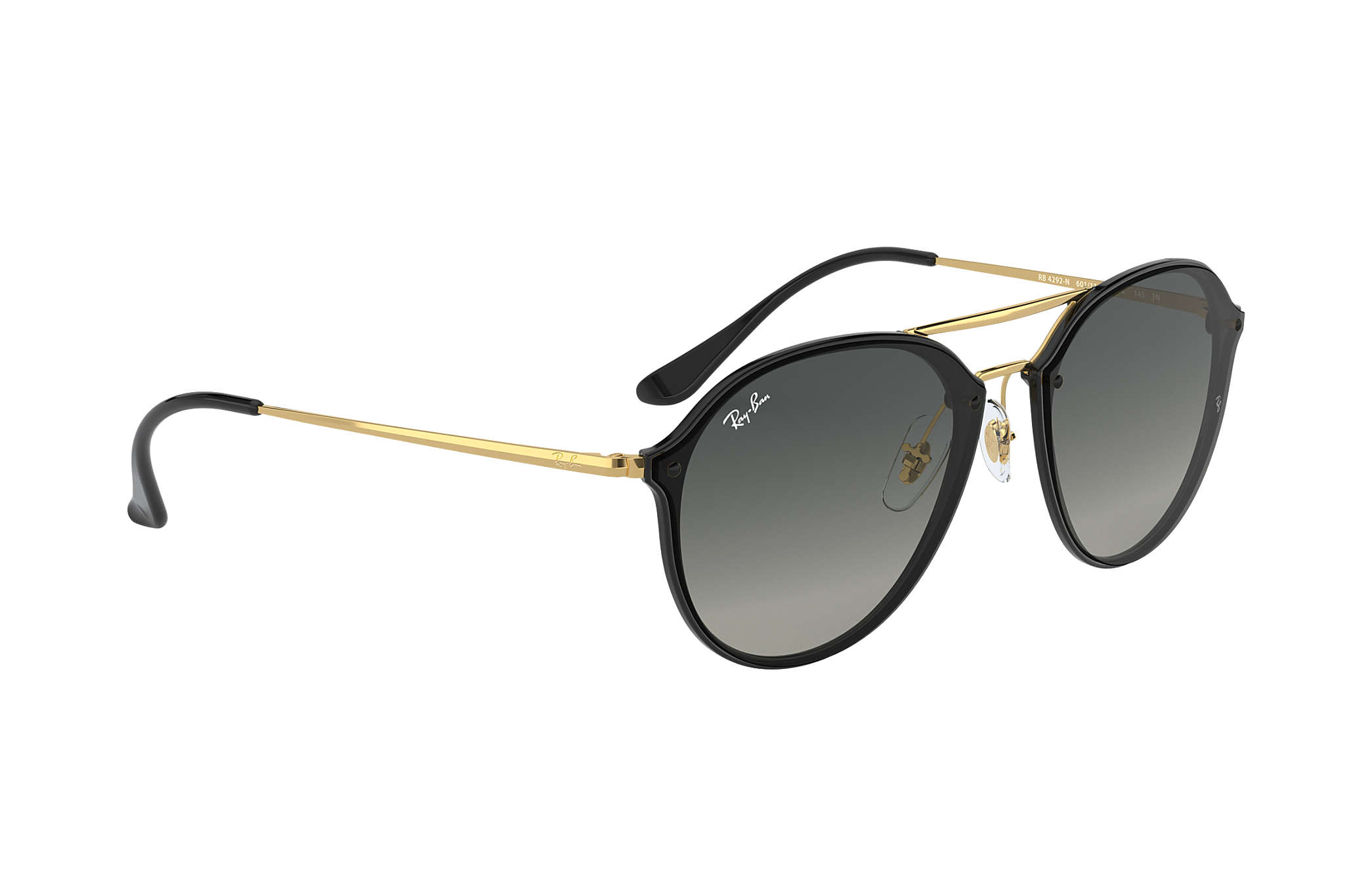 Ray-Ban Blaze Double Bridge RB4292N Black - Injected - Grey Lenses ... dc51f0cdce