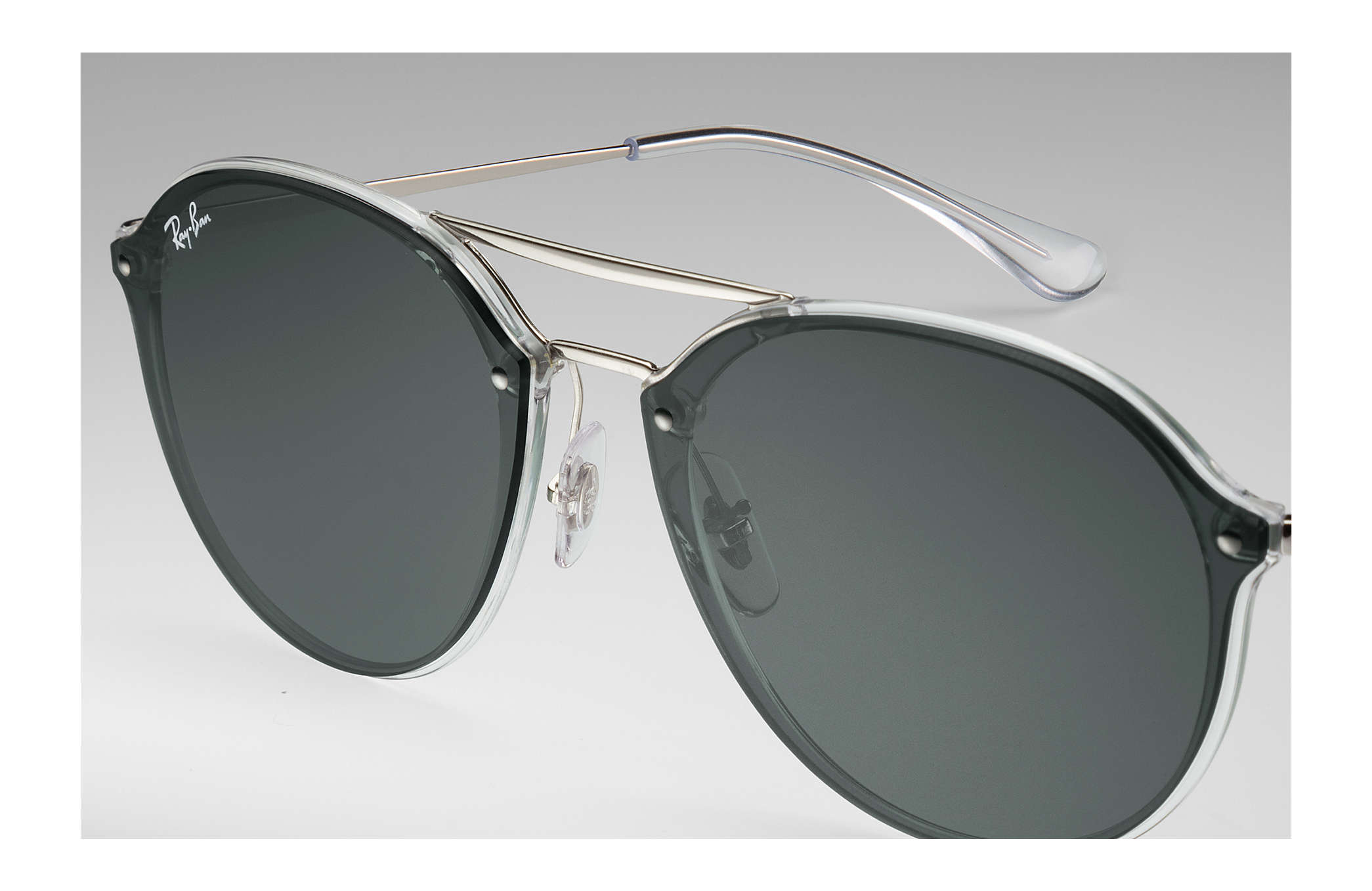 dfc03b6ae4a82 Ray-Ban Blaze Double Bridge RB4292N Transparente - Injected - Lentes ...